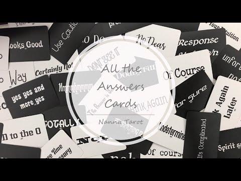 開箱  所有答案卡 • All the Answers Cards // Nanna Tarot
