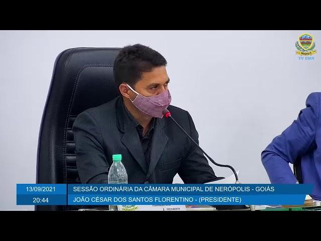 Sessão da Câmara Municipal de Nerópolis 13/09/2021