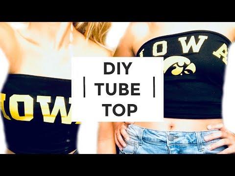 DIY TUBE TOP | QUICK & EASY NO SEW