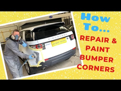 Land Rover Discovery Sport, How To Repair and Paint damaged bumper corners!  Check This Out!