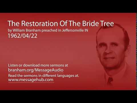 The Restoration Of The Bride Tree (William Branham 62/04/22)