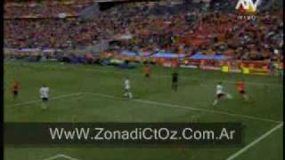 Repeticion autogol Holanda vs Dinamarca 2010