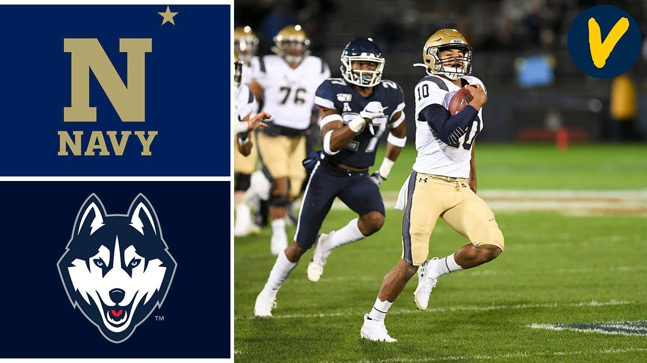 navy vs uconn football