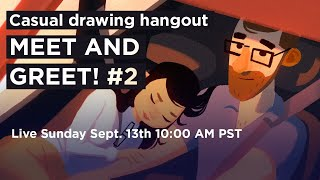 Casual Drawing Hangout – MEET AND GREET! #2 LBX 2020 (🔴 live stream)