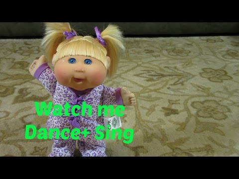 NEW Cabbage Patch Kids Electronic Pajama Dance Party Baby Doll!  Dances on hard floors + Carpet!