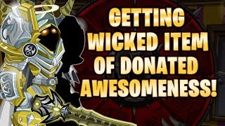 AQW - GETTING THE WICKED ITEM OF DONATED AWESOMENESS!