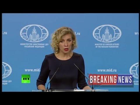 [BREAKING NEWS]Russian FM spokesperson Zakharova holds weekly briefing (streamed live)