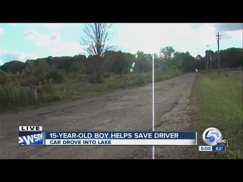 Regular Hero rescues man who drove car into reservoir