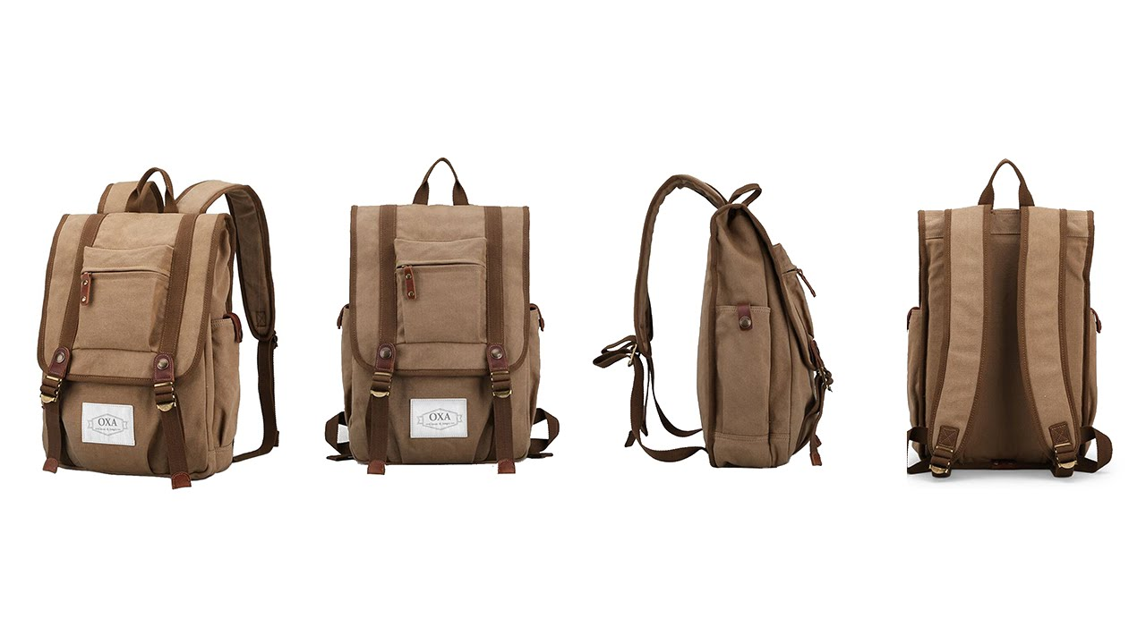 OXA Vintage Canvas Backpack  Review  - YouTube 6d70128cb5f13