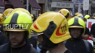 Spain: Firefighters march in Madrid to demand better working conditions
