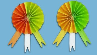 Diy Indian Badge/ How to make Indian Tricolor Badge Tutorial step by step