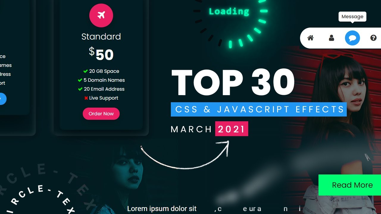 Top 30 CSS & JavaScript Effects   March 2021