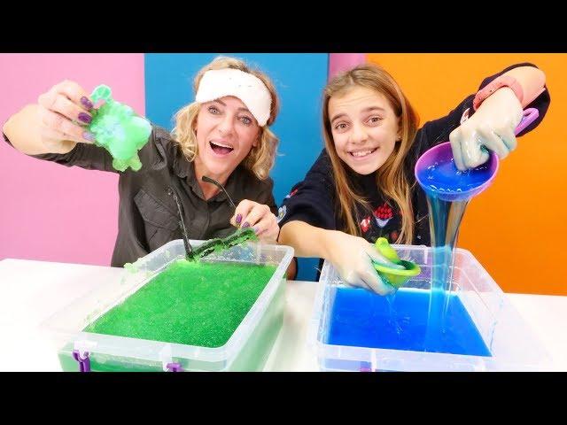 Spielspaß mit Ayça und Nicole. Wir machen eine Slime-Challenge