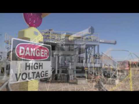 Electromagnetic Railgun firing