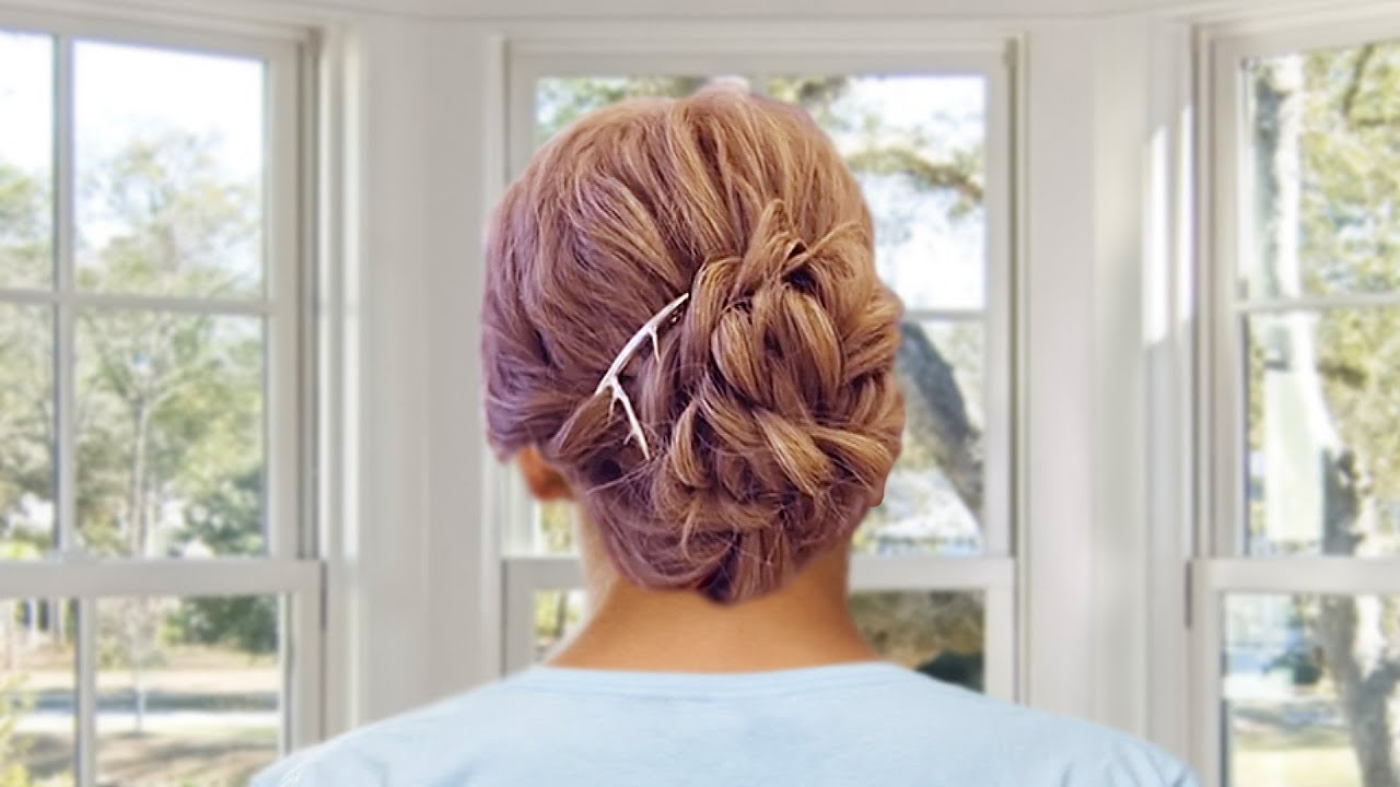 Loose Curls Bridesmaid Updo Bridesmaids Hairstyles Youtube