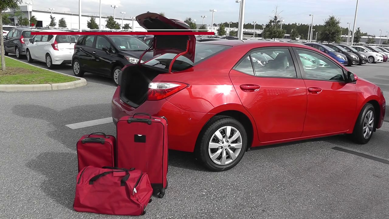 3 Piece Luggage Test 2016 Toyota Corolla Le