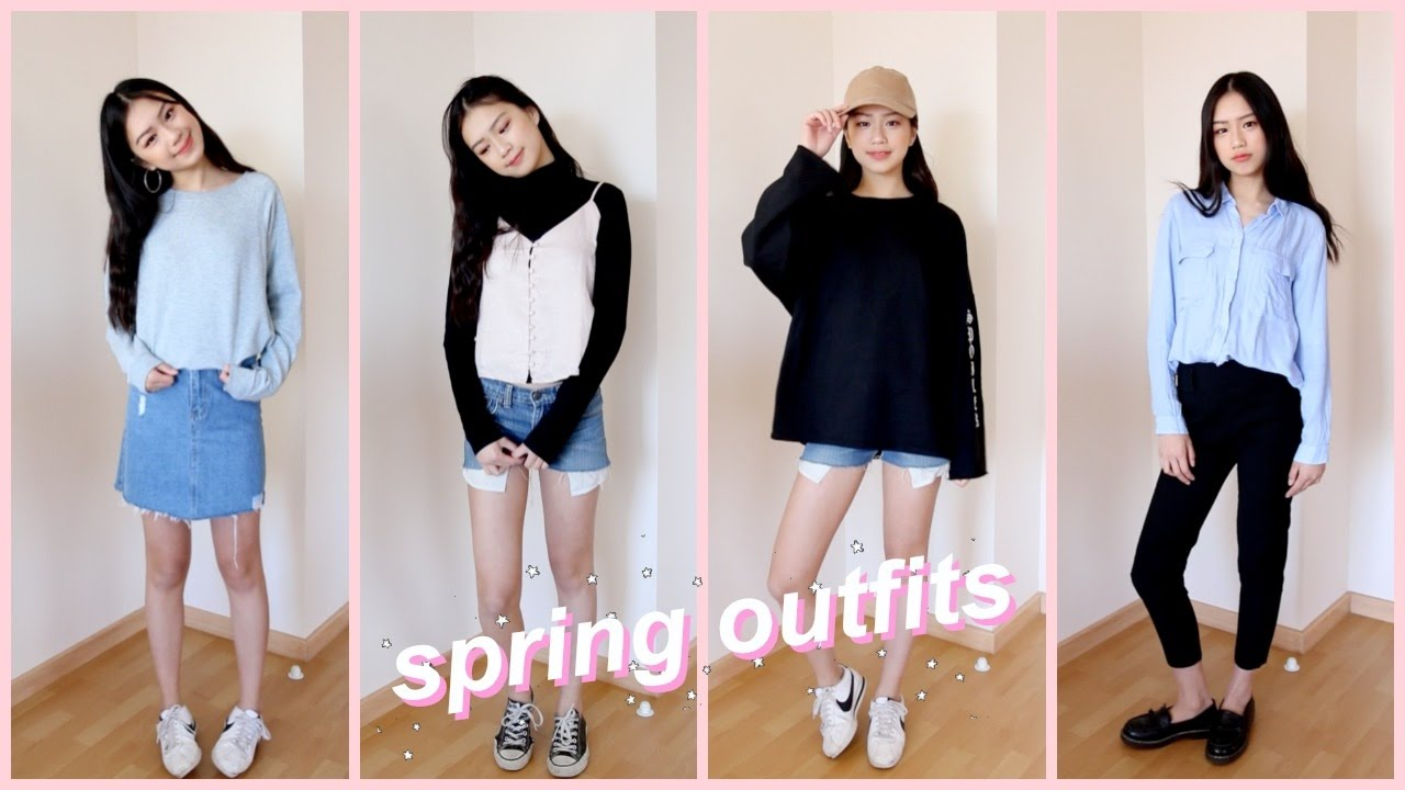Korean Fashion Spring Outfit Ideas Youtube
