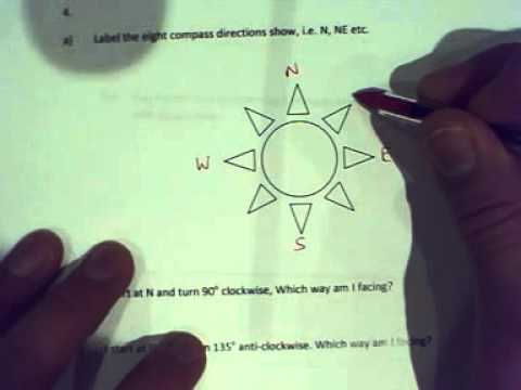 Year 7 Geometry Test Q3&4 Translation and Compass Directions
