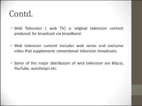 Internet Television vs.Web Television
