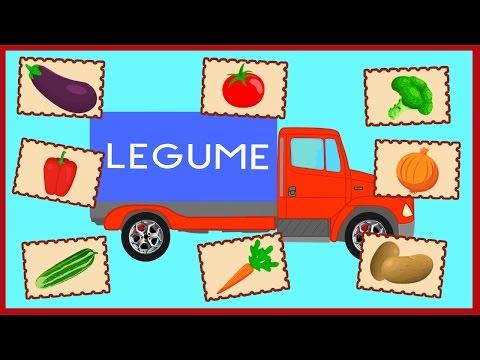 LEGUMELE. Camionul cu Legume. Desene Animate Educative pentru Copii