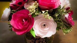 Cricut Paper Rose Bouquet Tutorial