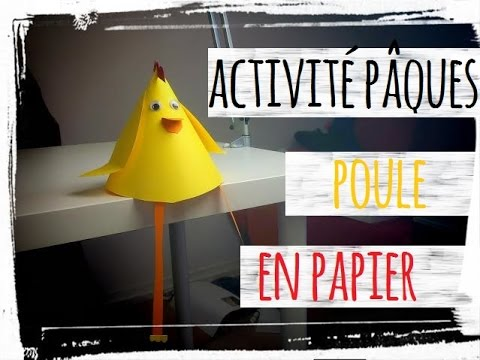 P ques activit manuelle poule en papier diy youtube - Activite manuelle assiette en carton ...