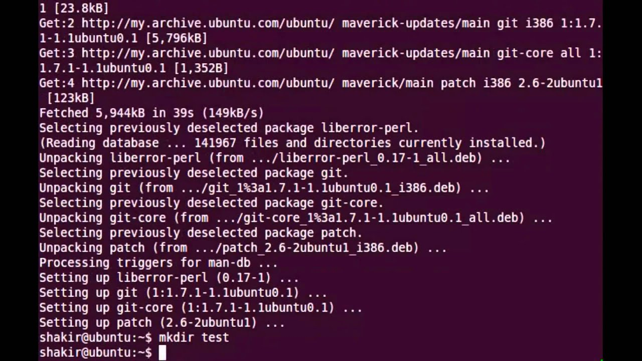 git client ubuntu