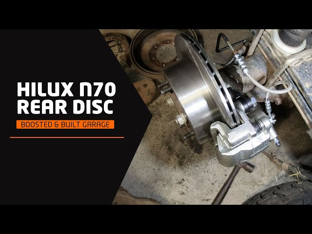 Jeremy's Hilux N70: Boosted & Built Garage REAR DISC