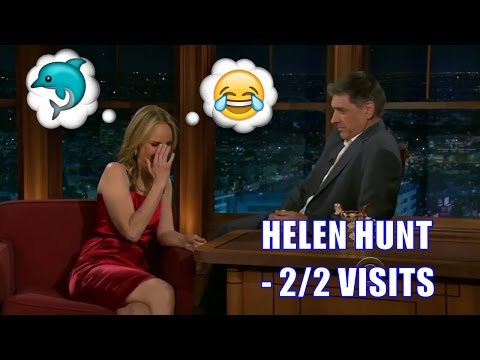 Helen Hunt  Tears Up Laughing When Craig Mentions Shark Penii  22 Appearances In Chron. Order