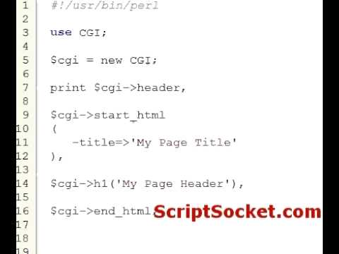 Perl Tutorial 52 - CGI.pm - Generate HTML on the Fly