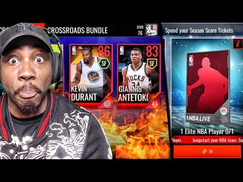 CRAZY ELITE PULLS & SEASON SCORE REWARDS! NBA LIVE MOBILE 18 PACK OPENING GAMEPLAY! Ep. 7