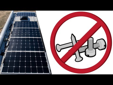 AVOID 1 FATAL MISTAKE When Installing Flexible Solar Panels On Your Van Roof!