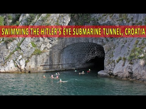 Swimming Hitler's Eye Submarine Tunnel - Šibenik, Croatia
