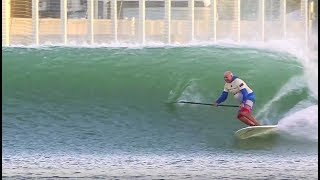 Video SUP Surfing the Kelly Slater Wave Pool download MP3, 3GP, MP4, WEBM, AVI, FLV Juli 2018