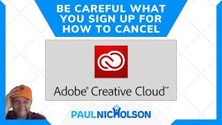 Adobe Creative Cloud Siġnup - How To Cancel With No Fees Applied