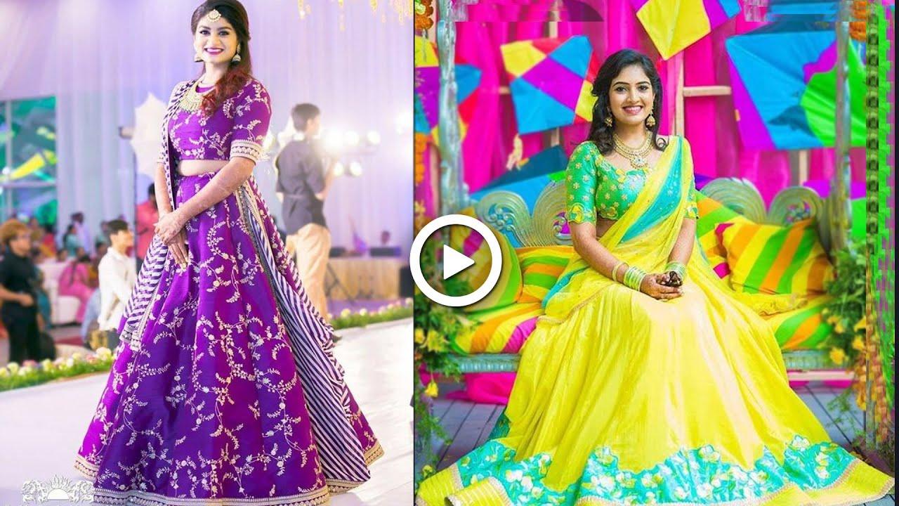 Botique Style Croptops & Halfsarees in Sravanam Sale Upto 60%off | Lehanga Dress Designs | BuyOnline