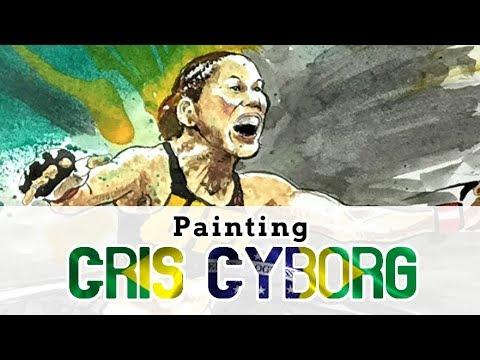 Cris Cyborg celebration painting pre-UFC 219