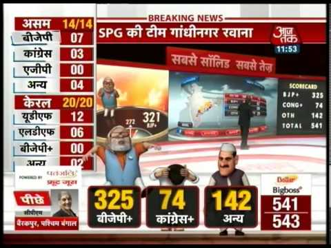 Modi wins in Vadodara, leading in Varanasi