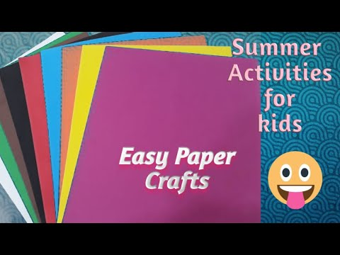 DIY  Easy paper crafts for kids   how to make animals with paper   summer activities for kids