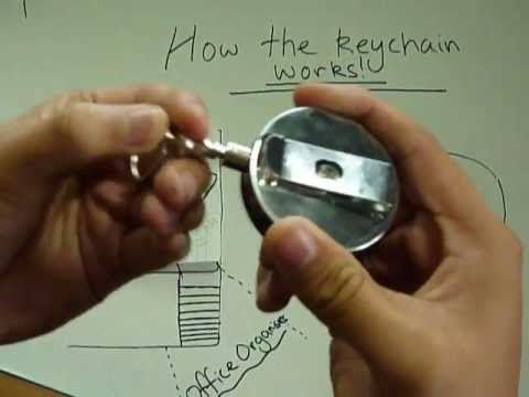 How To Use Retractable Key Holder Metal With Keyring And