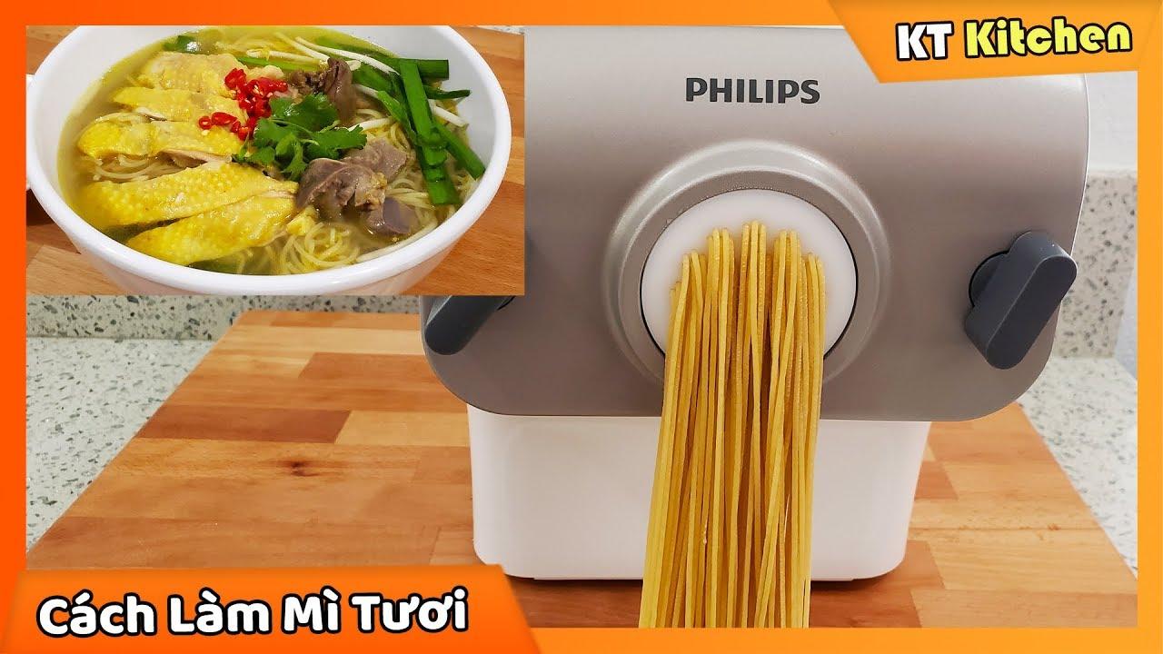 Cách Sử Dụng Máy Làm Mì PHILIPS – Tự Làm MÌ TRỨNG TƯƠI Dai Ngon Tại Nhà || Fresh Egg Noodles Recipe