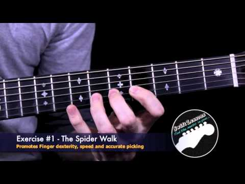 Spiderwalk Guitar Exercise! Build Speed and Accuracy!