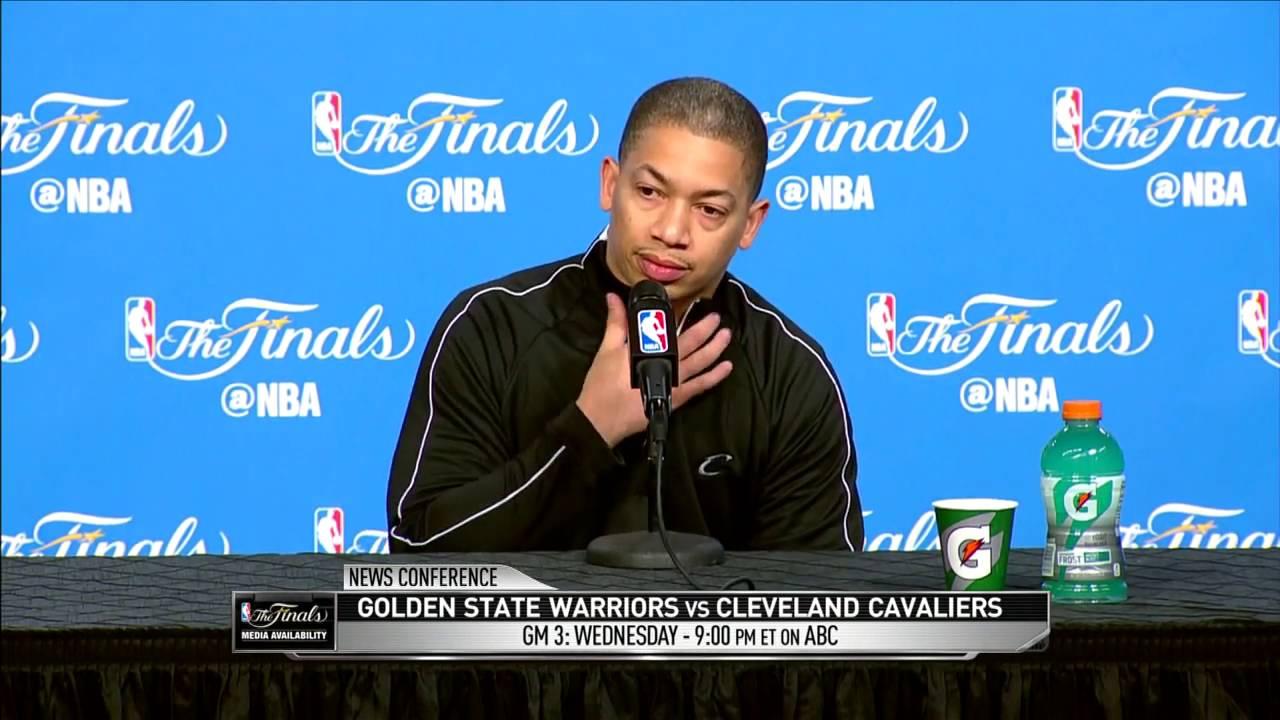 Tyronn Lue Practice Interview  Warriors vs Cavaliers   Game 3 Preview  June 7, 2016  NBA Finals