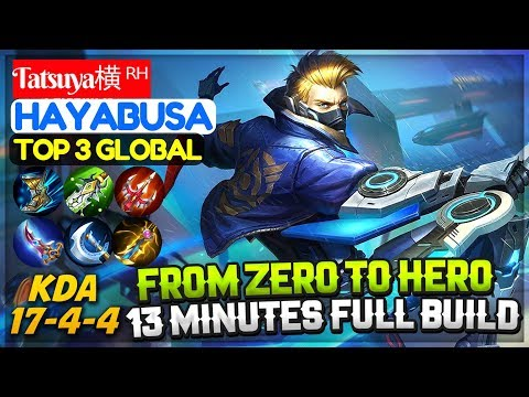 From Zero to Hero, Hayabusa Full Build in 13 Minutes [ Top 3 Global Hayabusa ] Tatsuya横 ᴿᴴ Hayabusa