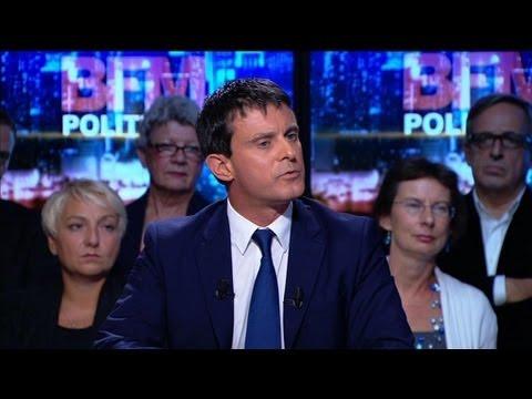 """Valls sur BFMTV: """"le rôle d'un responsable politique est d'assumer"""" - 29/09"""