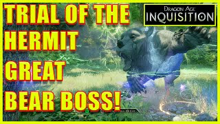Dragon Age: Inquisition - Trial of the Hermit Achievement Trophy - Grizzly End - Great Bear Hide