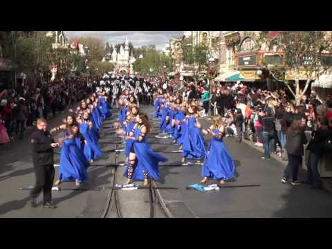 The Pride of Broken Arrow HS Marching Band - Disneyland - January 2017