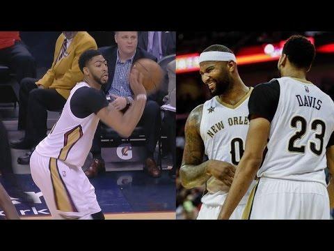 Anthony Davis Lobs! Pelicans Score 75...