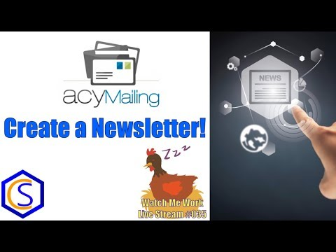 How To Create A Newsletter In Joomla Using ACYmailing Version 6 - 👀 Watch Me Work 035
