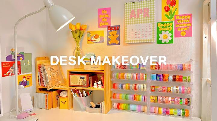 [룸투어]문구덕후의 책상 꾸미기✨  마테정리 꿀템/책상정리템 소개, 이케아트롤리 조립하기! | desk & stationery organization makeover💜